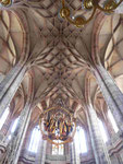 Gewölbe in der gotischen Kirche St. Lorenz in Nürnberg
