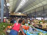 Stählerne Dachkonstruktion der Markthalle von Fort-de-France, Martinique