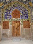 Wohnraum der Medrese in der blauen Moschee von Isfahan, I. R. Iran