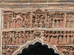 Terrakottafiguren an einem Hindutempel in Westbengalen