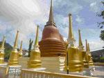 Stupas im Wat Puttamongkon in Phuket-Town, Thailand