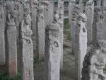 Pferdeanbinder im Steinwaldmuseum Nanjing, China
