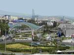 Blick auf das Zentrum von Tiflis, Georgien