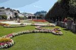 Garten des Schloß Mirabell in Salzburg