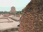 Der Darma Chakra Stupa in Sarnath, Indien