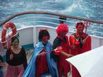 Neptuns Gefolge bei der Äquatortaufe auf MS Albatros