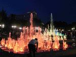Wasserspiele in einem neuen Park von Eriwan, Armenien