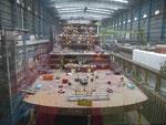 Schiffsneubau in der Meyerwerft Papenburg
