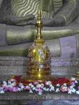 Reliquienbehälter  im Tempel Lankathilaka, Sri Lanka