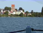 Blick vom Stadtsee auf Lychen