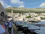 Im alten Hafen von Dubrovnik, Kroatien