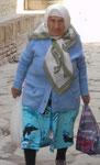Alte Frau in Khiwa,Usbekistan