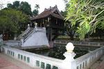 Berühmter Tempel auf einem Pfeiler in Hanoi, Vietnam