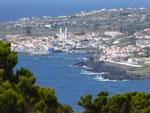 Blick vom Monte Brasil auf Terceira, Azoren