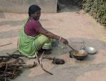 Kochstelle in einem westbengalischen Dorf