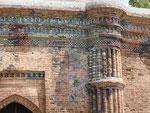 Delails eines islamischen Grabmals in Westbengalen, Indien
