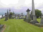 Grabhügel der Vermögenden in Kathedralnähe in Glasgow, Schottland
