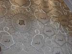 Verschiedene Namen Gottes in der Sheikh-Zayed-Moschee, Abu Dhabi, V.A.E.