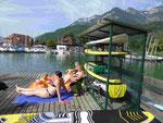 Badende am Kalterer See, Südtirol - Alto Adige