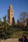 Moscheeturm in Marrakesch, Marokko
