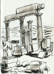 Poseidon Tempel, Delos, Kykladen