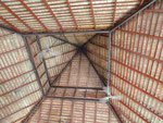 Dachkonstruktion im Club Rannalhi, Malediven