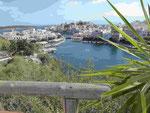 Blick auf Agios Nikilaos, Kreta, Griechenland