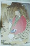 Heiligenbild in einem Kloster, Südkorea