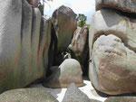 Granitfelsen auf Coco Island, Seychellen