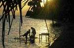 Abendstimmung auf Huahine/Südsee