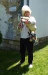 Serbischer Dudelsackspieler an der Donau