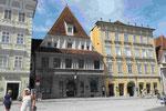 Gotisches Haus am Marktplatz von Steyr in Oberösterreich