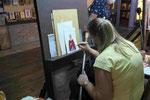 Ikonenmalerin ahe Meteora, Nordgriechenland
