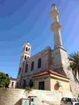 Agia Nikolaos in Chania, Kreta mit einem Minarett
