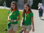 Mädchen vor dem Lewadia Palast, Jalta/ Ukraine