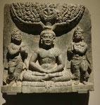 Szene aus dem Erleuchtungszyklus, Gandhara, 1. Jh. n. Chr.