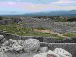 Blick von Mykene zum Meer, Peleponnes