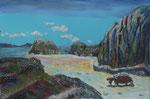 Gouache: Seychellen - La Digue