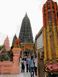 Der Mahabodhi Tempel von Bodhgaya, Indien