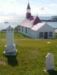 Petite Chapelle de Tadoussac am St. Lorenzstrom, älteste Holzkirche Kanadas, Quebec, Kanada