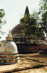 Dagoba in Anuradnahpura, Sri Lanka