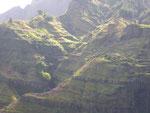 Vulkanische Terrassenlandschaft auf Sao Antao, Kapverden