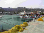 Im Hafen von Elounes, Kreta, Griechenland