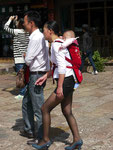Junge Mutter in Lingjan, China