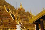 Die strahlende Shwezigon-Pagode in Nyang U,  Myanmar (Burma)