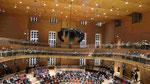 Saaldecke, Barenboim Said Akademie, Pierre-Boulez- Saal von Frank O. Gehry, Berlin-Mitte