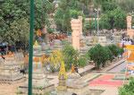 Am Mahabodhi Tempel von Bodhgaya, Indien