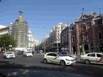 Eingang der Gran Via, Madrid, Spanien