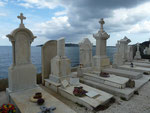 Auf dem Friedhof von St. Tropez, Frankreich