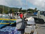 Hafenarbeiter auf La Digue, Seychellen